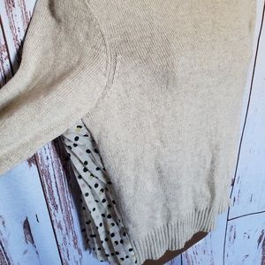 Anthropologie Sweaters - Anthropologie Moth mock neck cream sweater top